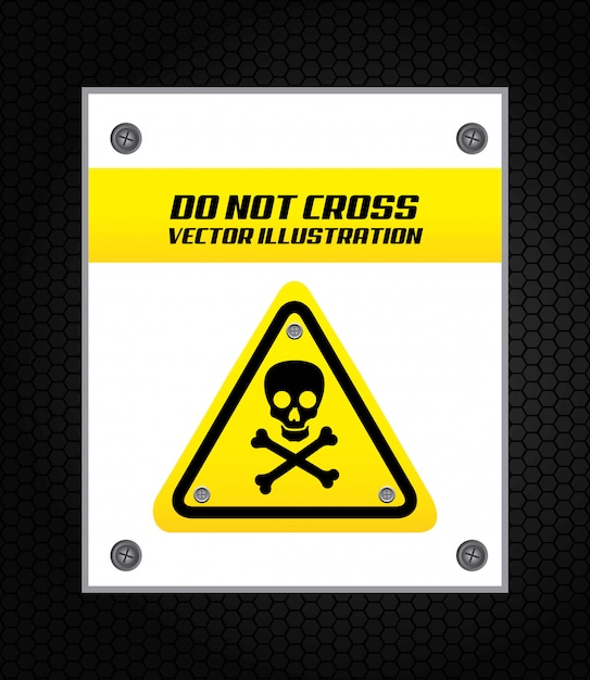 Sygnał ostrzegawczy na czarno Darmowych Wektorów