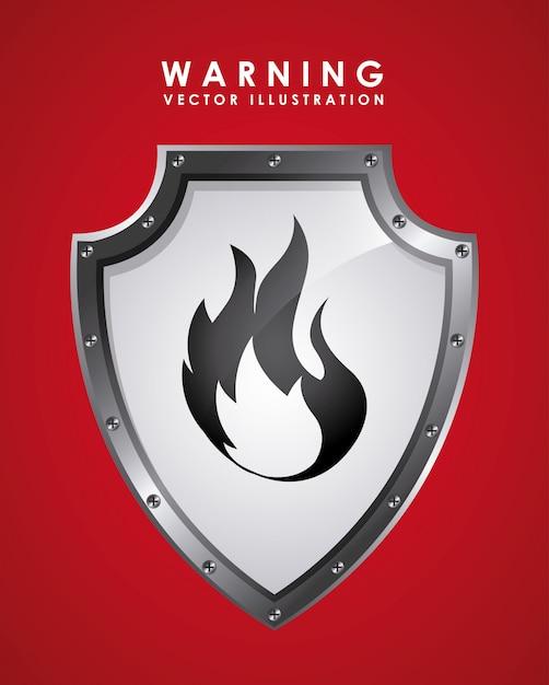 Sygnał ostrzegawczy nad czerwonym Darmowych Wektorów