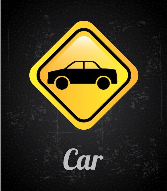 Sygnał Samochodowy Premium Wektorów