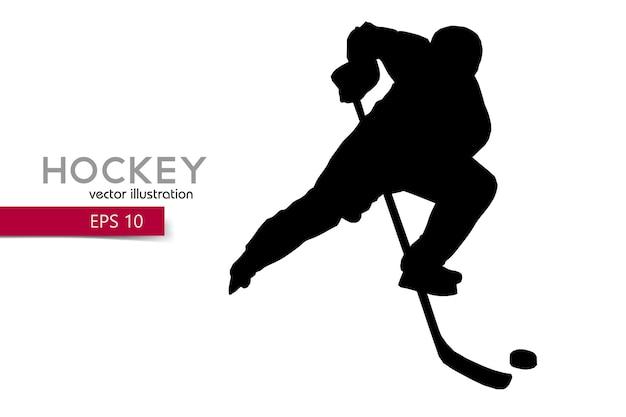 Sylwetka Gracza W Hokeja Premium Wektorów