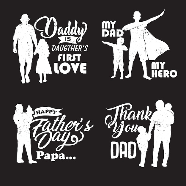 Sylwetka ojca i dziecka Premium Wektorów