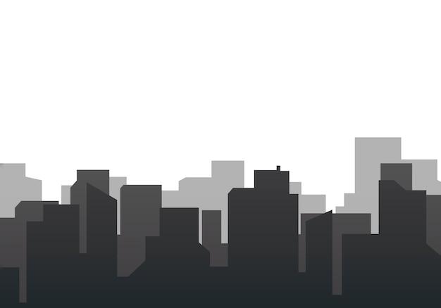 Sylwetka panoramę ilustracji Darmowych Wektorów