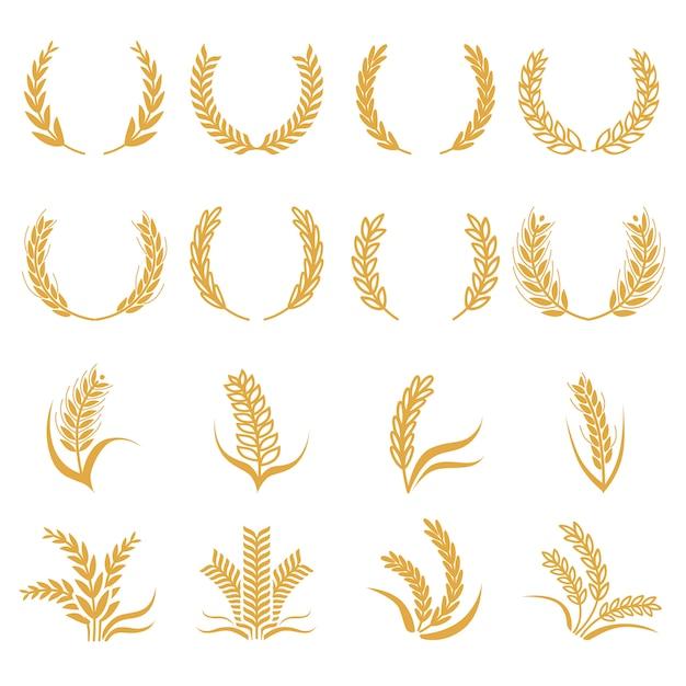 Sylwetka pszenicy Premium Wektorów