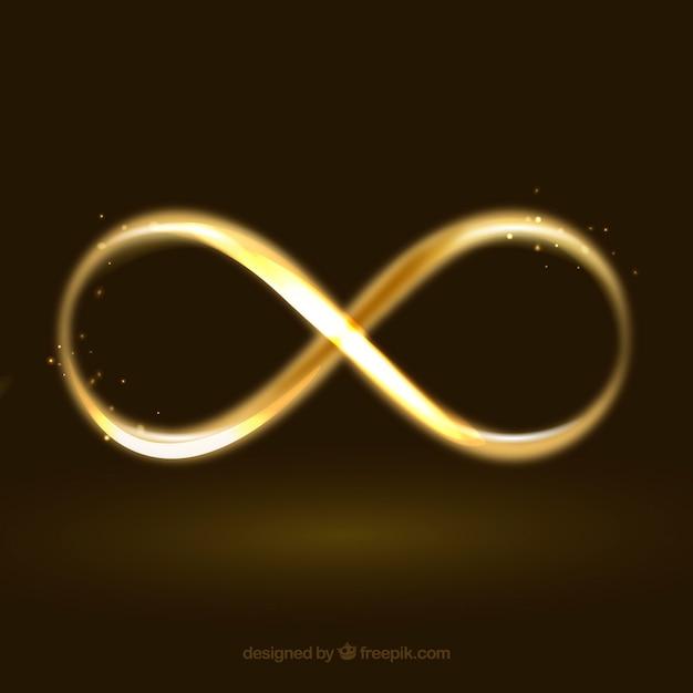 Symbol Nieskończoności Z Efektem świecącym Darmowych Wektorów