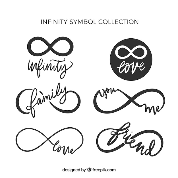 Symbol Nieskończoności Z Kolekcji Słów Darmowych Wektorów