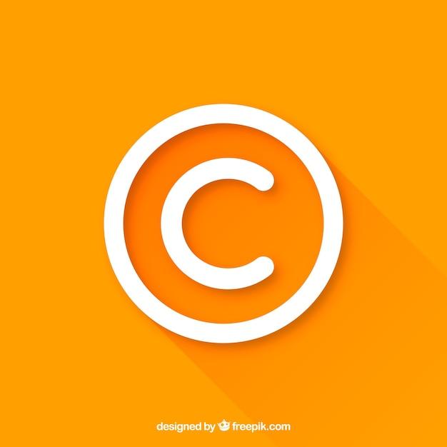 Symbol praw autorskich w stylu płaskiej Darmowych Wektorów