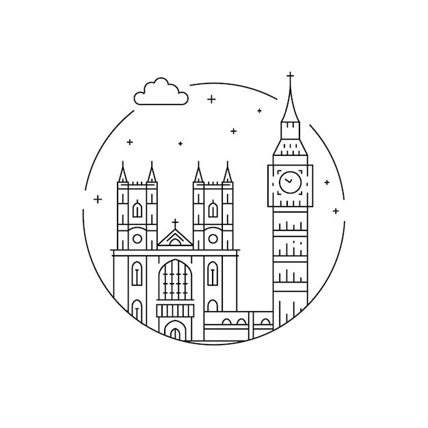 Symbole londynu Premium Wektorów