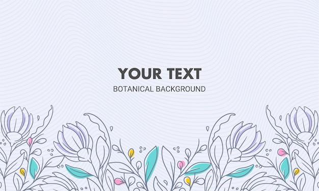 Symetryczne Kolorowe Ręcznie Rysowane Naturalne Tło Kwiatowy Premium Wektorów