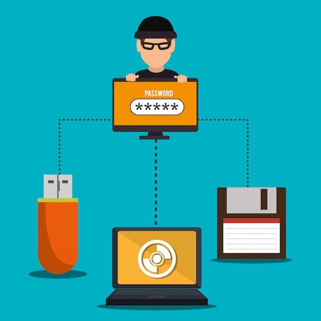 System bezpieczeństwa i technologie Darmowych Wektorów