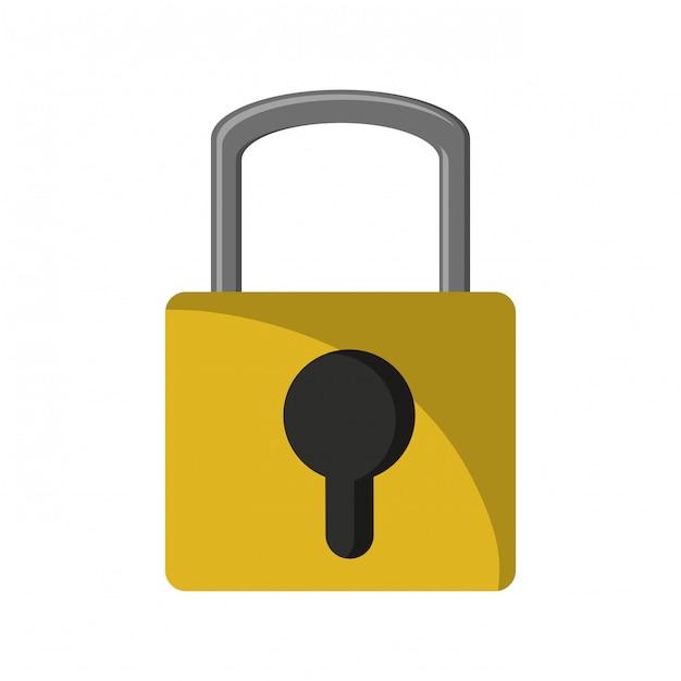 System bezpieczeństwa kłódki Premium Wektorów