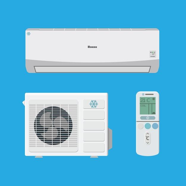 System Klimatyzacji Premium Wektorów