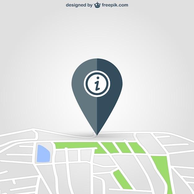 Sytuacja pin na mapie Darmowych Wektorów