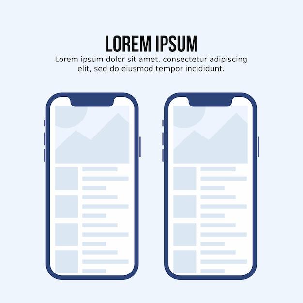 Szablon aplikacji mobilnej Premium Wektorów
