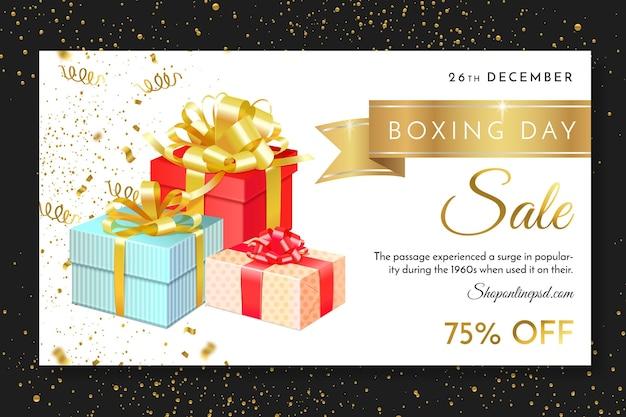 Szablon Banera Internetowego Dzień świąt Bożego Narodzenia Premium Wektorów