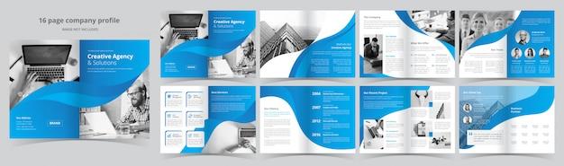 Szablon Biznes Broszura Strony Premium Wektorów