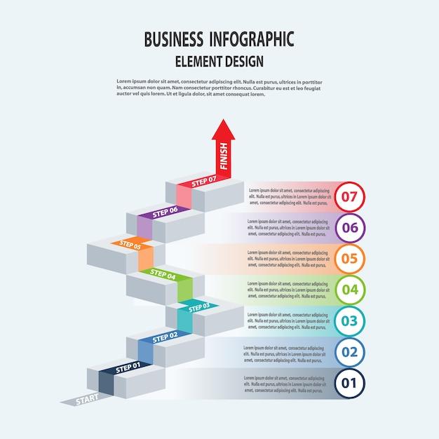 Szablon biznes infografiki Premium Wektorów