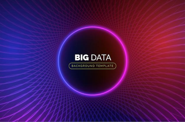 Szablon Biznesowy Big Data Z Streszczenie Koło Darmowych Wektorów