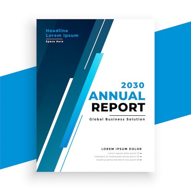 Szablon Broszura Nowoczesny Niebieski Roczne Sprawozdanie Z Działalności Darmowych Wektorów