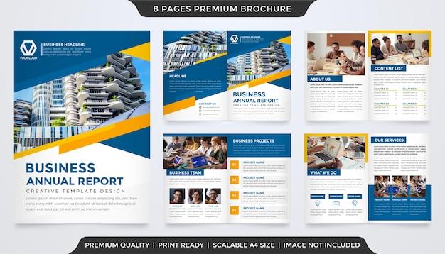 Szablon Broszury Biznesowej Bifold Premium Wektorów