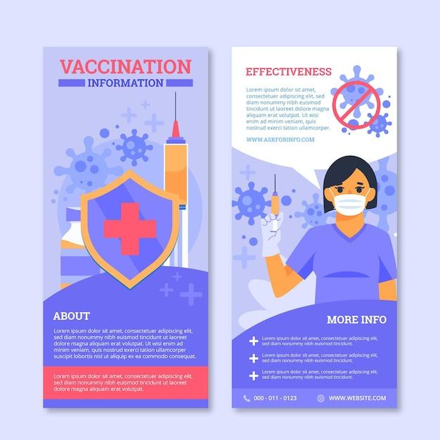 Szablon Broszury Informacyjnej O Szczepieniu Przeciwko Koronawirusowi Darmowych Wektorów