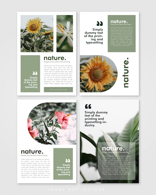 Szablon Broszury Lookbook Pakiet Nature Premium Wektorów
