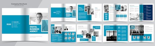 Szablon Broszury Profil Firmy Premium Wektorów