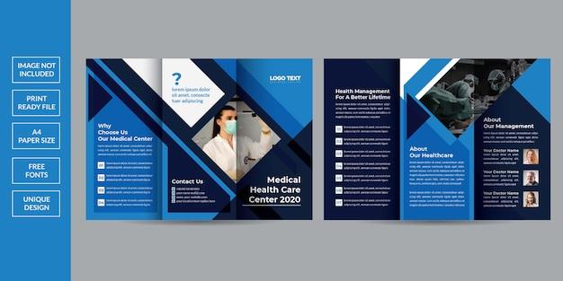 Szablon Broszury Zdrowia Składanej Trzykrotnie Premium Wektorów