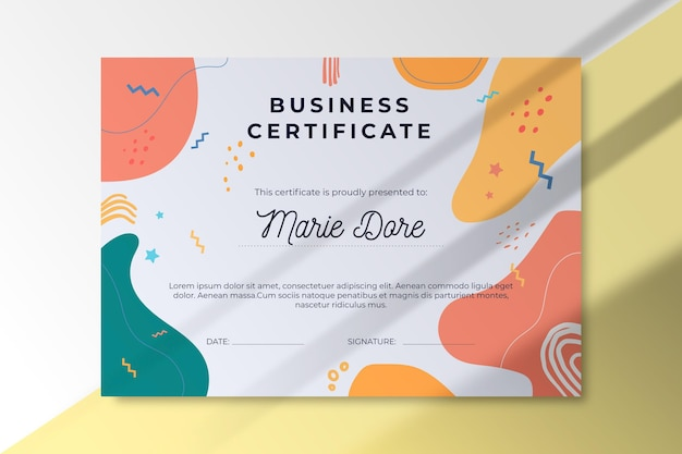 Szablon Certyfikatu Streszczenie Biznes Darmowych Wektorów
