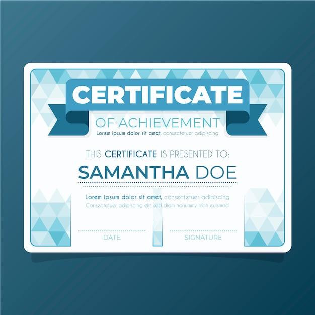 Szablon Certyfikatu Streszczenie Darmowych Wektorów