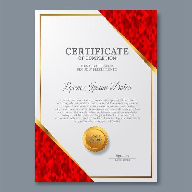 Szablon Certyfikatu Z Luksusem I Nowoczesnością Premium Wektorów