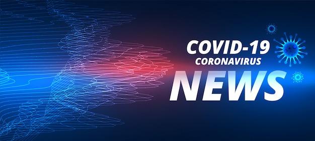 Szablon Corovavirus Powieści Covid-19 Najnowszy Szablon Wiadomości Darmowych Wektorów