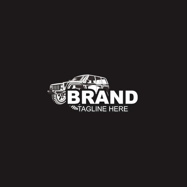 Szablon Czarny Samochód I Logo Motoryzacyjny Premium Wektorów