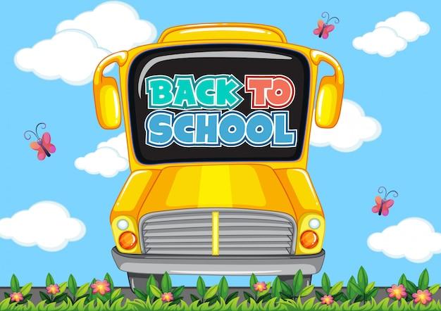 Szablon Do Szkoły Z Autobusu Szkolnego Darmowych Wektorów
