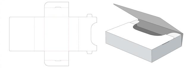 Szablon Do Wycinania Składanego Pudełka Do Przechowywania Premium Wektorów