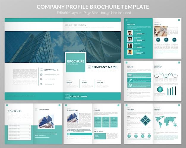Szablon Dokumentacji Profilu Firmy Premium Wektorów