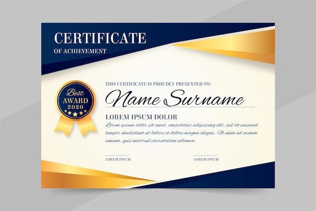 Szablon Dokumentu Dyplomu Premium Wektorów