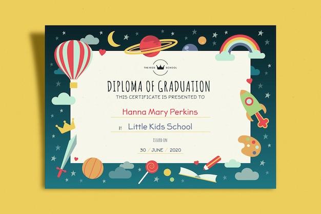 Szablon Dyplomu Dla Dzieci Darmowych Wektorów