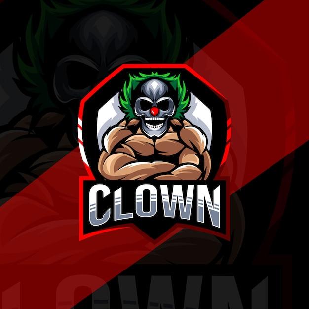Szablon E-logo Maskotka Klauna Premium Wektorów