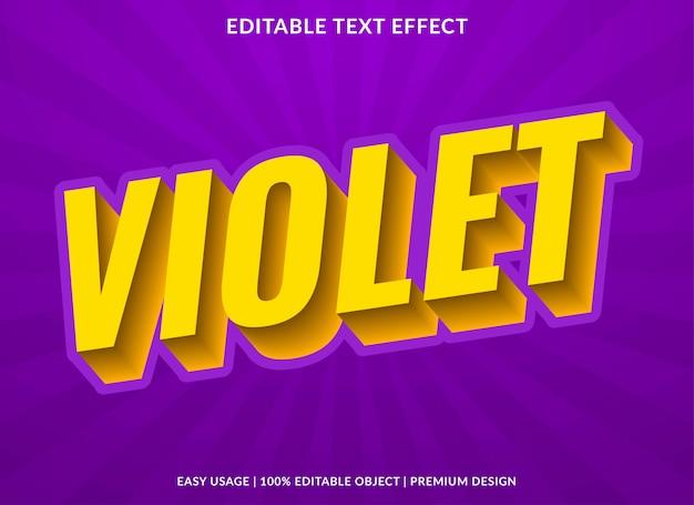 Szablon Efekt Fioletowego Tekstu W Stylu 3d I Pogrubiony Tekst Premium Wektorów