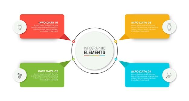 Szablon Elementów Biznes Plansza Premium Wektorów