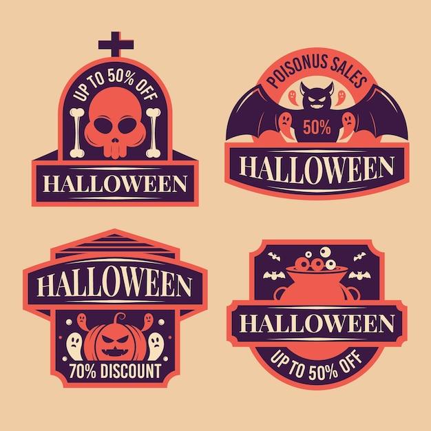 Szablon Etykiety Sprzedaży Halloween Darmowych Wektorów