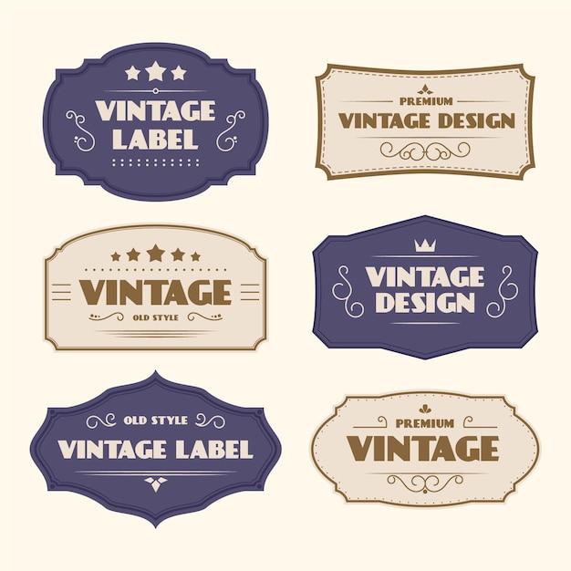 Szablon Etykiety Vintage W Stylu Papieru Darmowych Wektorów