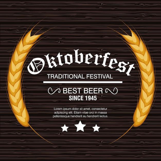 Szablon Festiwalu Piwa Oktoberfest Na Białym Tle Premium Wektorów