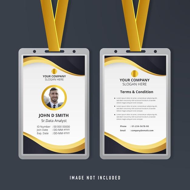 Szablon Firmowej Karty Tożsamości Premium Wektorów