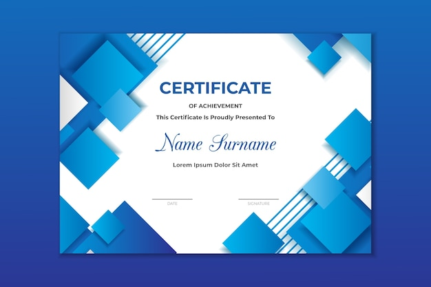 Szablon Geometryczny Streszczenie Certyfikatu Darmowych Wektorów