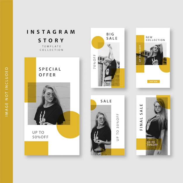 Szablon historii na instagramie Premium Wektorów