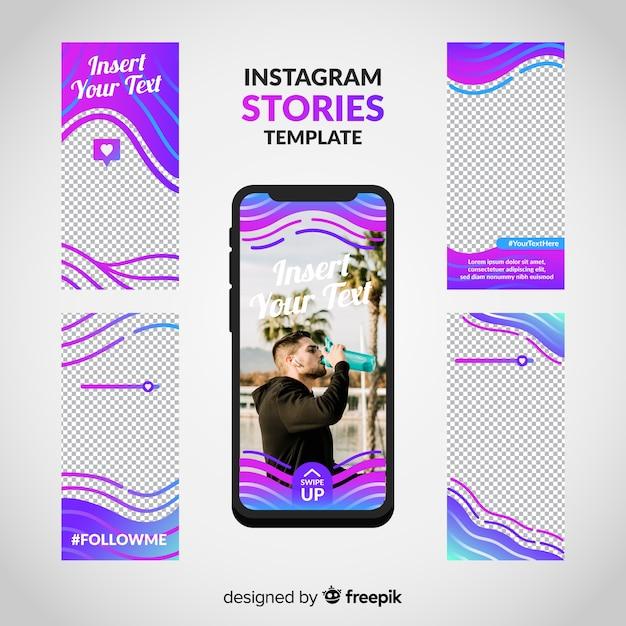 Szablon historii na instagramie Darmowych Wektorów