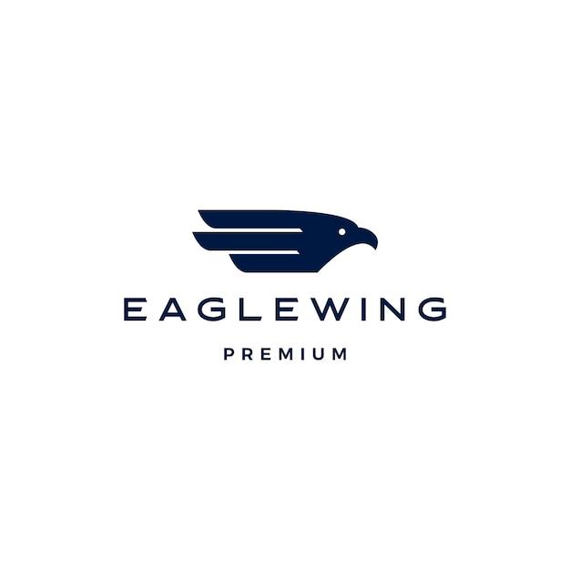 Szablon Ikona Logo Ptak Skrzydło Orła Premium Wektorów