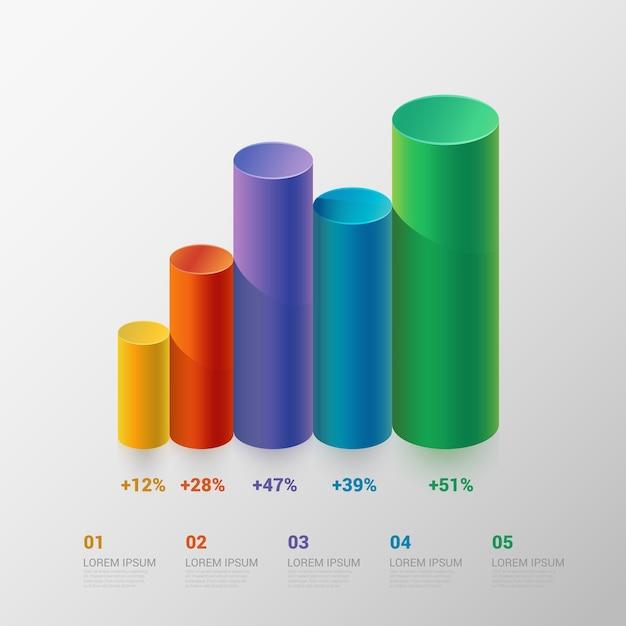 Szablon Infografika Darmowych Wektorów