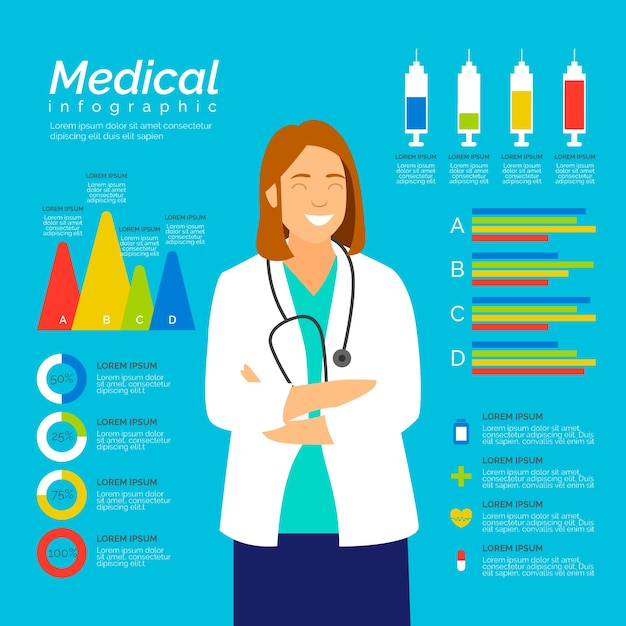 Szablon Infografikę Medyczną Darmowych Wektorów